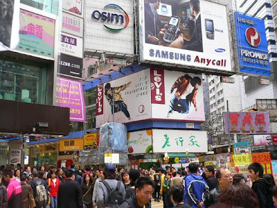 Causeway Bay is eternally popular with local shoppers and tourists.