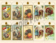 Prim/Vintage hand tags for gifts and more.