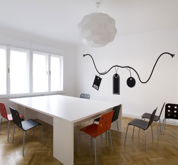 El cuaderno del decorador decorar paredes con pegatinas for Bauhaus vinilos decorativos