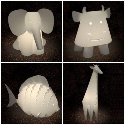 El cuaderno del decorador iluminaci n infantil - Lampara de noche para bebes ...