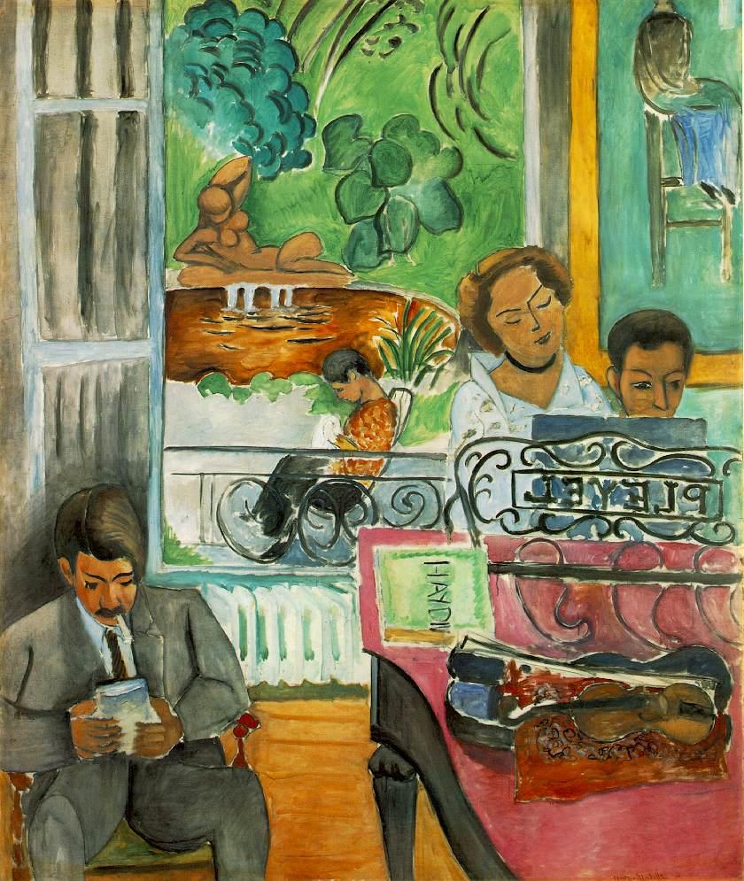 Henri Matisse, La Leçon de Musique (The Music Lesson), 1917