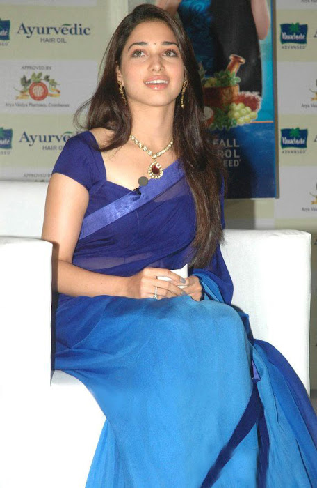 tammanah in blue at parshute ad campaign actress pics