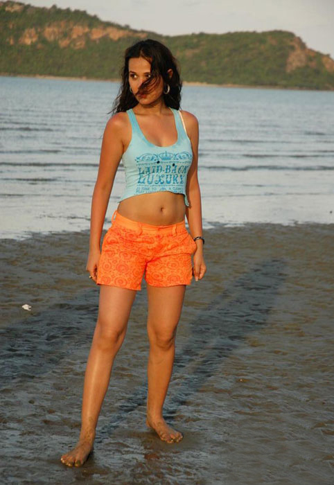 actress.cugiz Nisha Kothari Beach