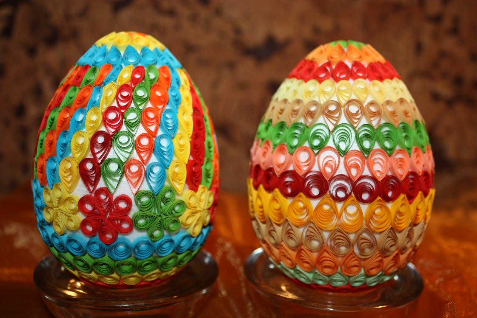 Пасхальное яйцо своими руками квиллингом