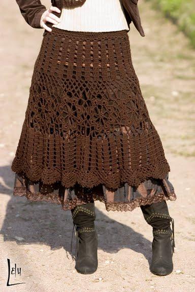 Free Crochet Pattern For Cowgirl Skirt : *El rincon de las Manualidades de Siry*: Faldas en crochet