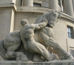 """Man Controlling Trade"" completed for the FTC Building in 1942 by Michael Lantz"