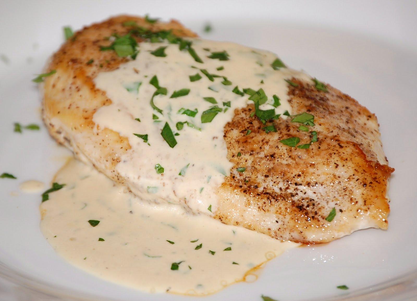 Sauteed Chicken In Mustard-Cream Sauce Recipe — Dishmaps
