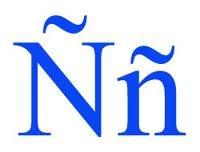 español letra Ñ
