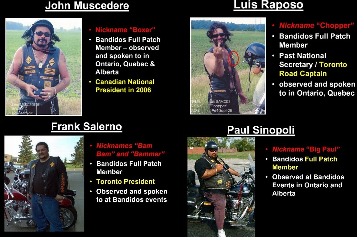 Bandidos Members Who Were Murdered In Shedden Ontario on April 8, 2006.