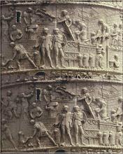 Soldati romani si daci pe Columna lui Traian