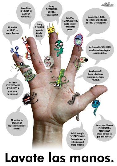 Cuidados enfermeros intensivos higiene de manos for Lavado de manos en la cocina