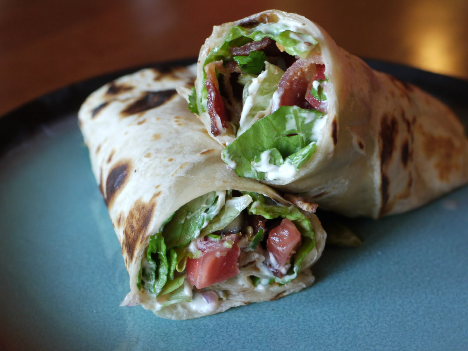 The Bad Girl's Kitchen: Bacon, Lettuce and Tomato Salsa Wraps