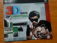 Sony 3D Days Of Christmas Brochure Manny Pacquiao Cover