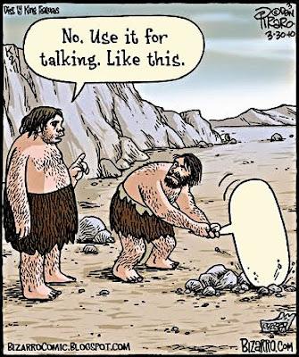 caveman talking