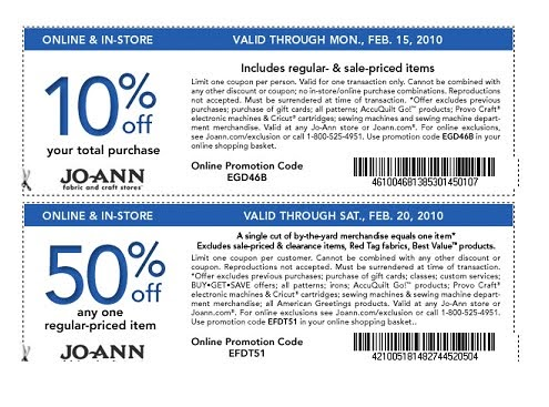 Joann coupon code 20 off