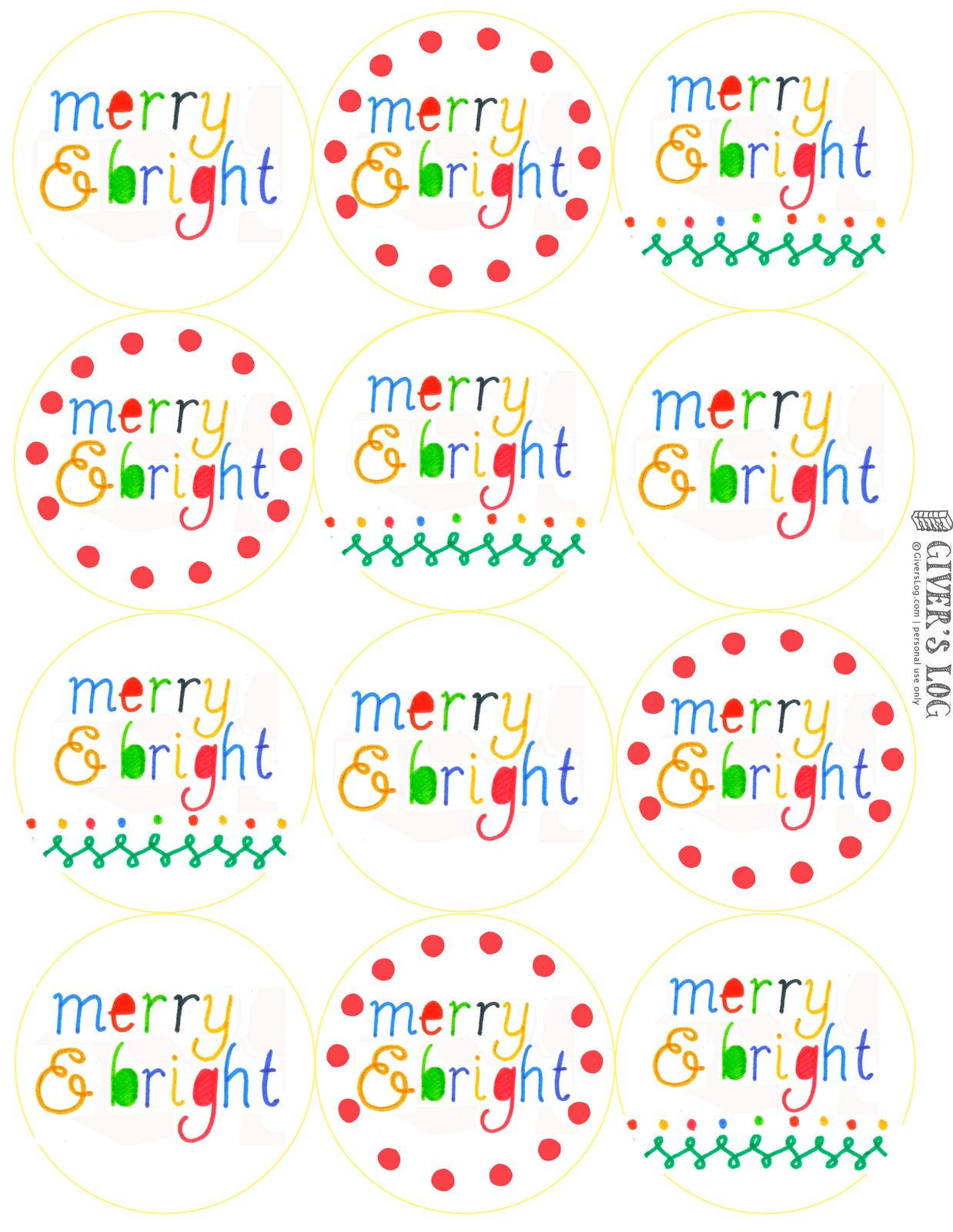 Fabulous image in printable holiday gift tags