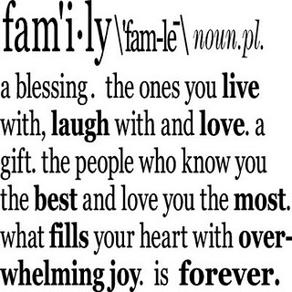 definition of family For many, marriage is the symbolic cornerstone to the definition of family, and i'm  ecstatic that whomever wishes to marry will never be.