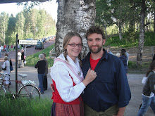 AS and Andy at midsommar