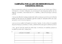 planilla de firmas para exigir emergencia ante el abuso sexual contra las mujeres