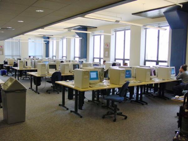 Boston University's CS lab in 2001 and 2010