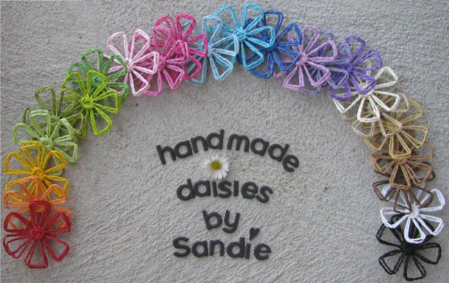 Handmade Daisies by Sandie