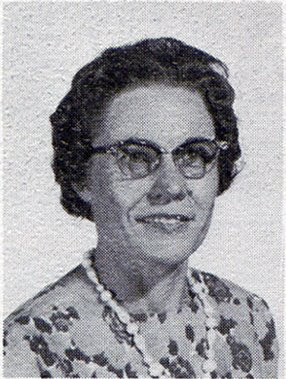Lucinda Bartels, fourth-grade teacher at St John Elementary School in Seward, Nebraska. The image was scanned from the 1965-1966 yearbook.