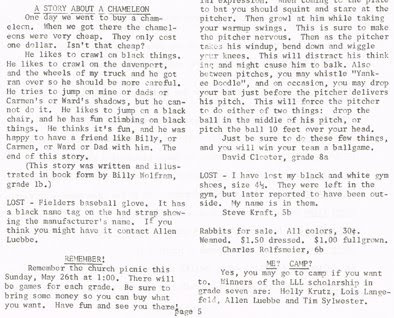 Page 5 (bottom half) of the May 1968 issue of Hi Lights, the student newspaper of St John Elementary School in Seward, Nebraska. The image was scanned from a paper copy belonging to Steve Sylwester.