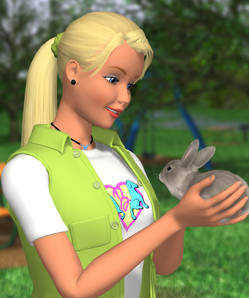Barbie holding a bunny. Image taken from http://www.ipmart-forum.com/showthread.php?t=185339