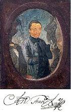 suposto retrato póstumo de Aleijadinho realizada por Euclásio Ventura,séc xix,abaixo a sua asinatur