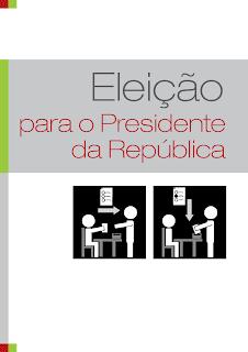 Imagem da capa do folheto de leitura fácil sobre as eleições presidenciais
