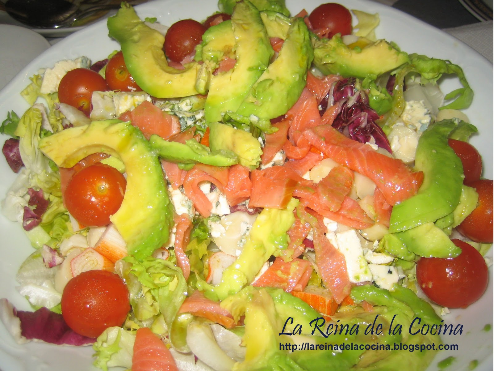 La reina de la cocina ensalada de salm n aguacate - Ensalada salmon y aguacate ...