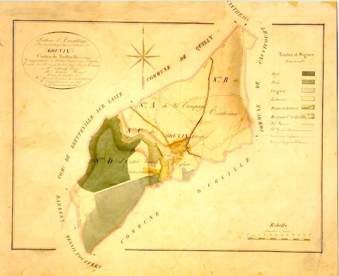 plan cadastre GOUVIX 1809