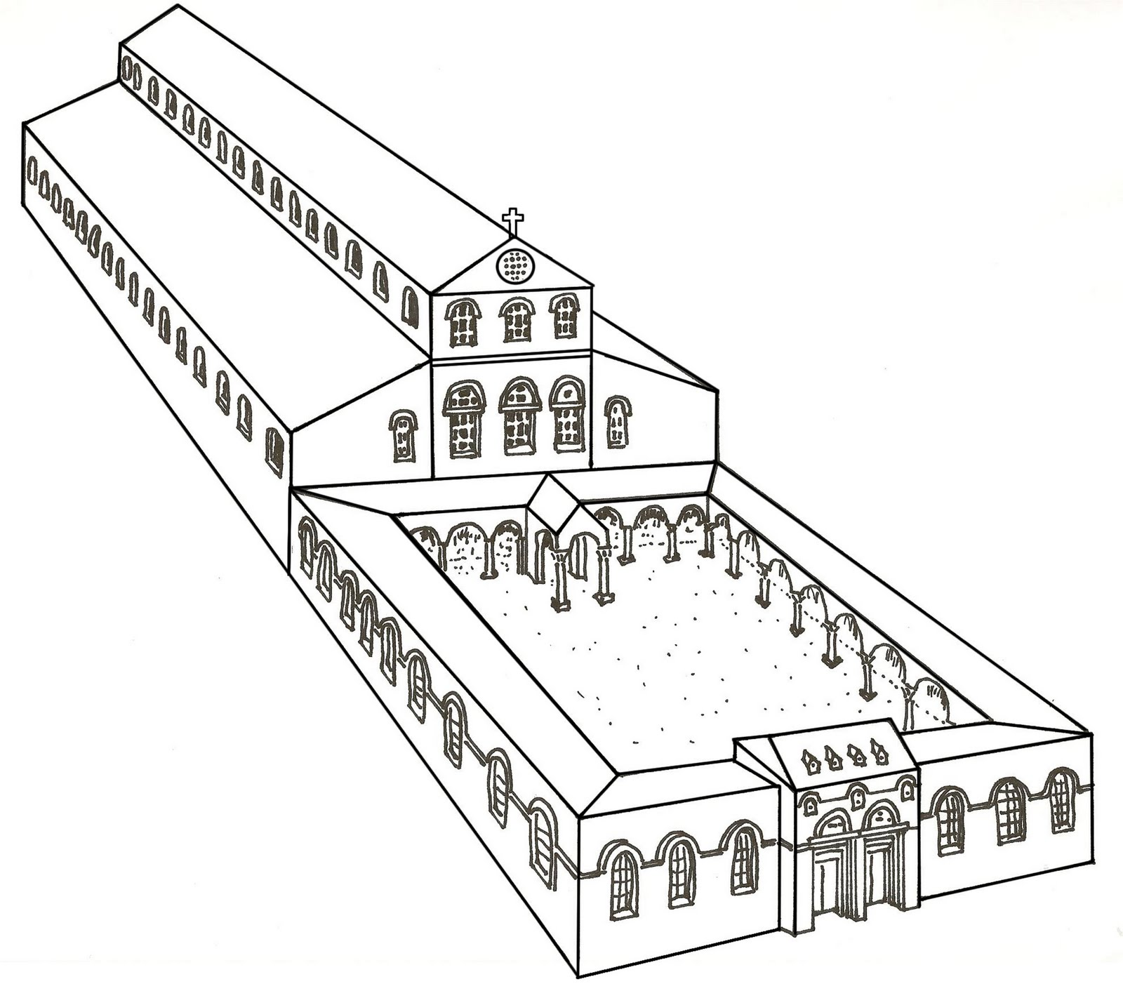 Nea Church Of Justinian 543 Ad on reconstruction of the south