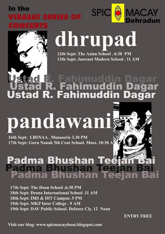 Poster Dhrupad & Pandawani