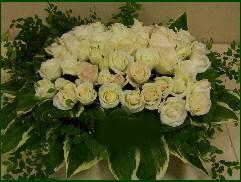 gerbe de roses blanches