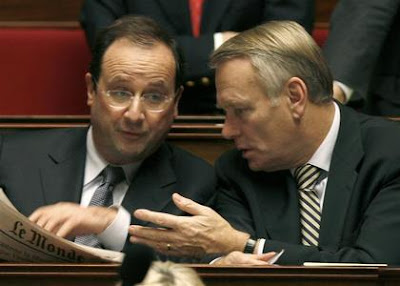 MM. Ayrault et Hollande