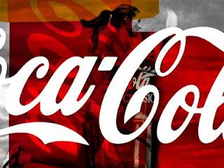affiche CocaCola torche JO