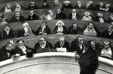 la Chambre par Daumier