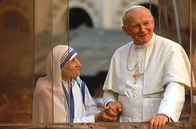 Mère Teresa et SS Jean-Paul II