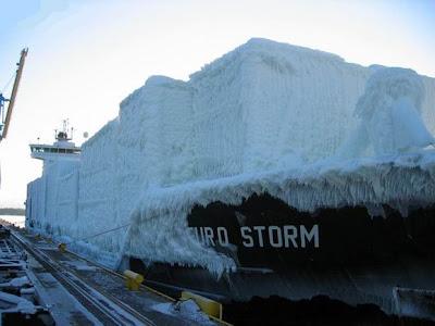 bateau glacé