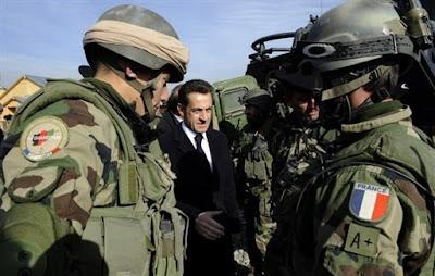 Sarkozy au front