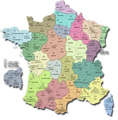 carte départementale