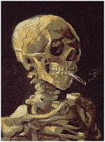 crâne par Van Gogh