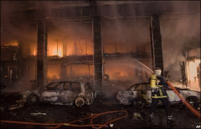 incendie à Athènes