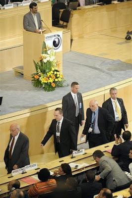 sortie des délégués européens