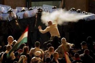 émeute budapest