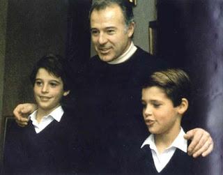le prince Alphonse et ses 2 fils
