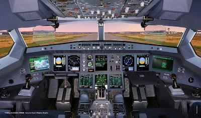 cockpit d'un A350