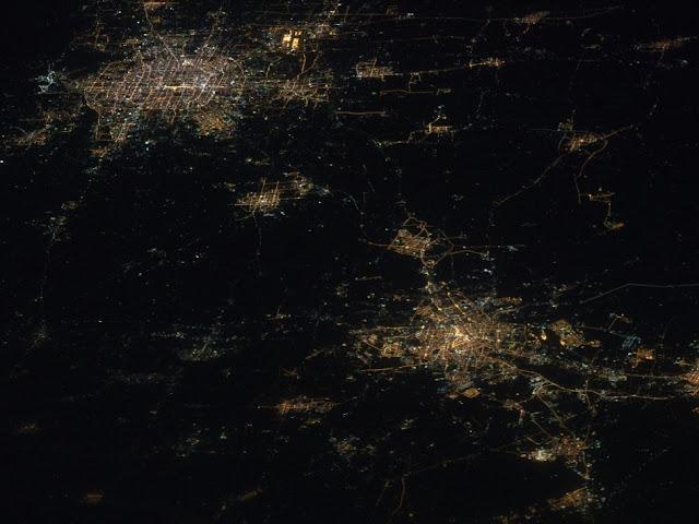 cliché NASA connurbation Beijing-Tianjin