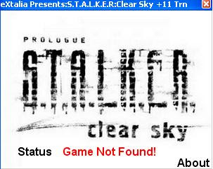 Download STALKER: Clear Sky trainer: ext-stalker_cs_p11.rar ...